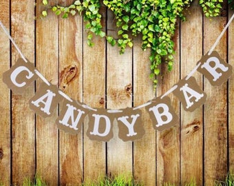 Candy bar kraft banner
