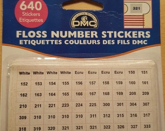 Floss number stickers.