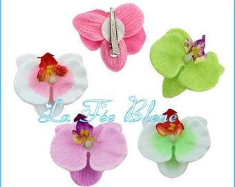 "Flower barrette clip ""Orchid"""