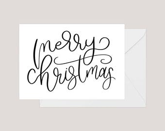 Printable Merry Christmas Card | Greeting Card | Holiday Card | | Xmas Card | A2 Card | Happy Christmas Card | Simple Christmas Card
