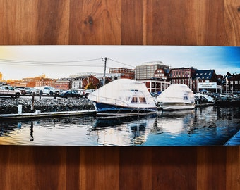 Mounted 8x20 Photo - Boats in Portland Harbor