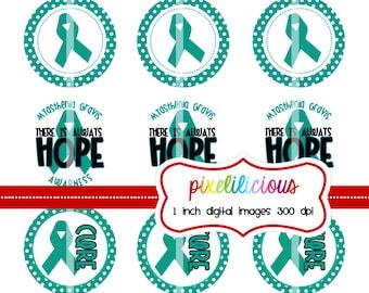 Bottle Cap Image Sheet - Instant Download - Awareness  Myasthenia Gravis -  1 Inch Digital Collage - Buy 2 Get 1 Free