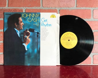 Johnny Cash & The Tennessee Two Get Rhythm Vinyl Record Album LP 1969 Country Blues Rock Pop Music Vintage