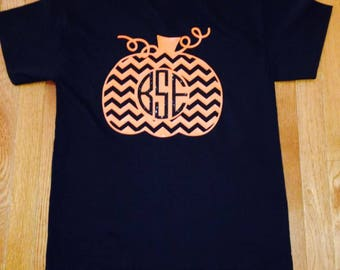Monogram pumpkin shirt