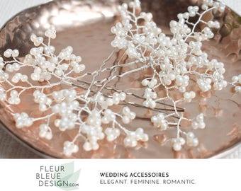 silver bridal hair pins | wedding pearl headpiece | hair pins silver | beaded headpiece | wedding hair pins | pearl hair pins