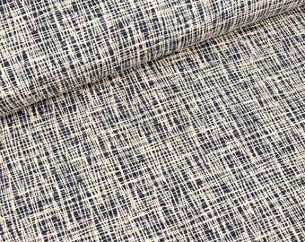 Cotton jersey Vera Criss Cross Blue-nature (15.50 EUR/meter)