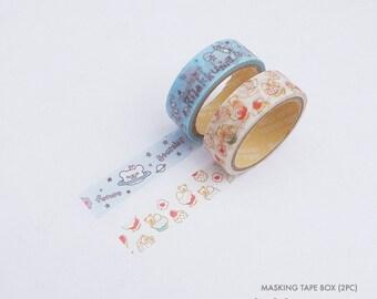 Rilakkuma masking tape v2 2 in 1 | Rilakkuma washi tape 2 in 1 v2 | Rilakkuma paper tape 2 in 1 v2