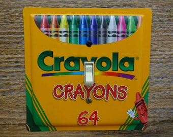 Light Switch Cover Plate Colorful Decor Lighting Made From Crayola Crayons Tins Crayon Tin SP-0100S