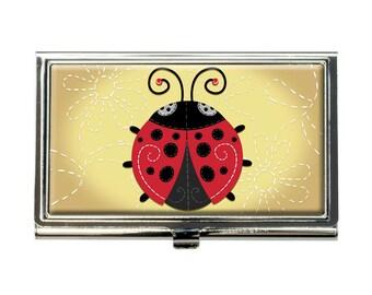 Cute Ladybug Business Credit Card Holder Case