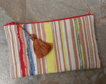 The Small Clutch - Zippered Clutch with Tassel