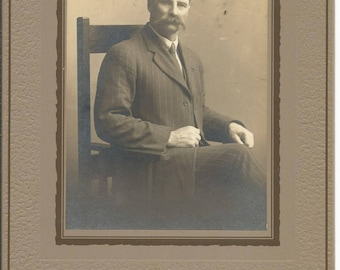 Antique 1900 Victorian Cabinet Photograph of a Young Man
