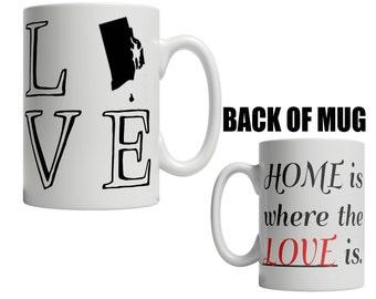 Rhode Island State Mug | CHOOSE YOUR STATE | Home State Mug | Long Distance Mug | Homesick Gift | College Roommate | Miss You Gift 438