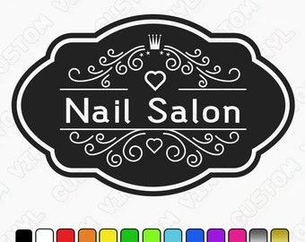 Nail Salon Wall Decal, Custom Nail Salon Sign/Prints/Art Vinyl wall art sign decal, beauty salon, hair salon, Nail Salon Sign