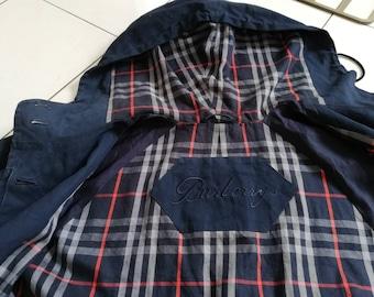 Vtg BURBERRYS Hoodie Long Jacket Large Size | Burberrys Prorsum Nova Check