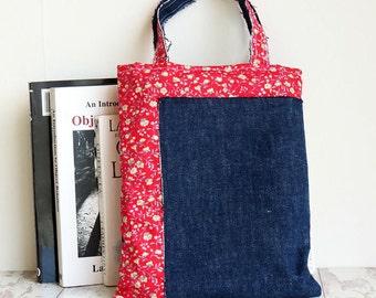 Child Tote Bag | Denim Tote | Small Lunch Bag | Girls Handbag