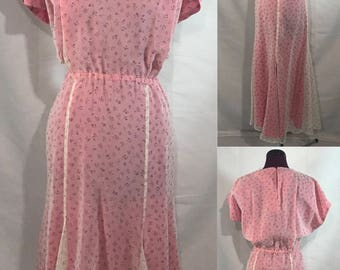 1940's | Vintage Lined Dress | handmade