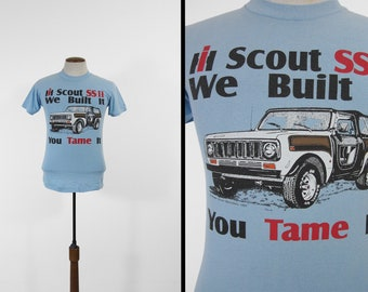 Vintage IH Scout T-shirt SSII Off Road International Harvester 1990s Tee - Size Small