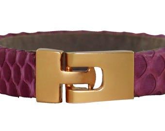 Python Bracelet, Python Cuff, BAJ 496 G Magenta
