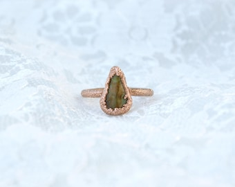 Rainforest Rhyolite | Electroformed Copper Ring US 4 1/4