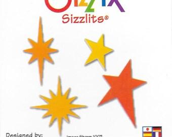 Sizzix - Sizzlits -Stars #3 - 4 designs on die  - 654536 - dated 2007 - NIP