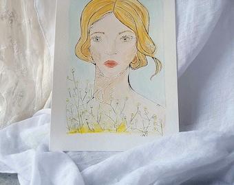 White flower girl