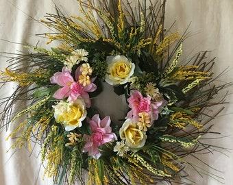 Spring Door Wreaths - Front Door Wreaths - Spring Front Door Wreath  - Spring Wreaths For Front Door - Summer Wreaths - Summer Door Wreath