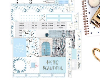 Hello Beautiful     Weekly Planner Sticker Kit   for Erin Condren Vertical Layout