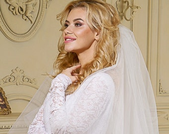 Simple Bridal Wedding Veil 1 tier
