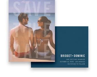 Photo Save the Date/Photo Wedding STD/Photo Wedding Save The Dates/Save-The-Date/Modern/Bold/Unique/Luxury/Elegant/Clean/Typography