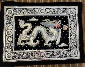 Burmese Tapestry ( Silver Dragon)