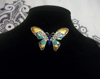 Vintage Rhinestone Butterfly Pin/Brooch