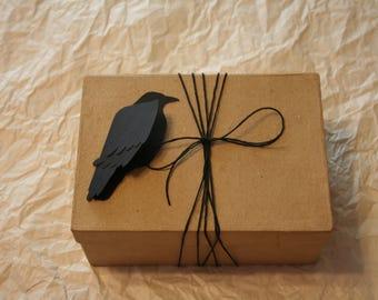 Raven Crow Gift Tag