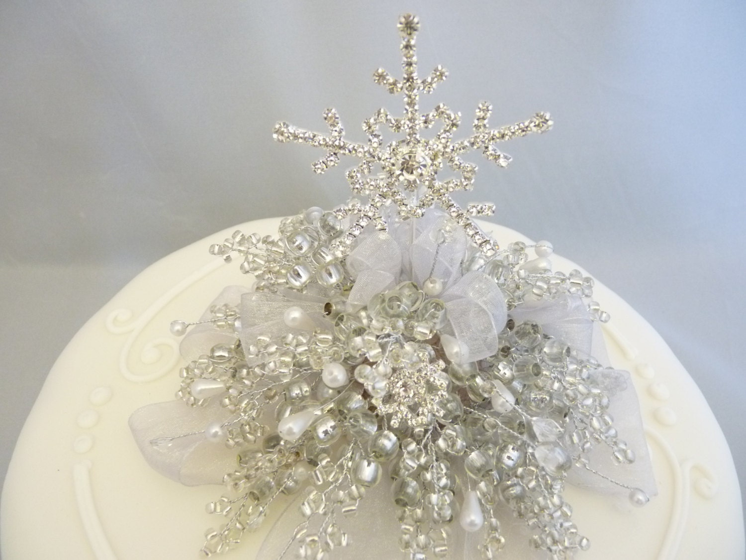 Snowflake cake decoration, Snowflake cake topper, Winter wedding ...