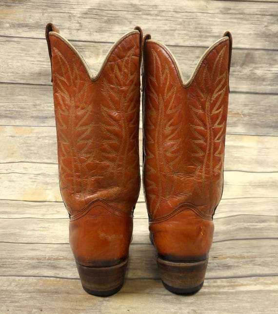 Stiefel Tan Vintage Western Braun Damenschuhe Cowgirl Damenschuhe Braun Wrangler Größe Country 013f93