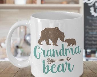 Grandma Bear Mug - 11 oz or 15 oz Ceramic Coffee Cup - Gift for Grandmother
