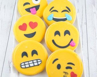 Emoji Cookies - 18 Decorated Sugar Cookie Favors