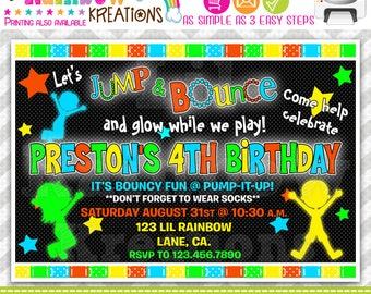 646: DIY - Glow In The Dark 2 Party Invitation Or Thank You Card