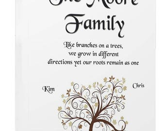 Family Like Branches Tree Personalised  Canvas Print Wall Art High Quality Print Framed Ready To Hang