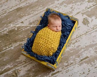 Newborn Cocoon Photo Prop in Sunflower Yellow