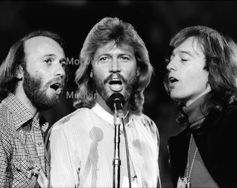 Bee Gees Print Black and White Andy Gibb