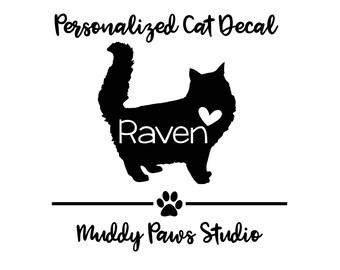 Personalized Cat Decal, Custom Cat Decal, Cat, Cat Decal, Cat Sticker, Cat Decal, Personalized Decal, Custom Cat Decal