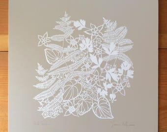 "Original Papercut ""Shade Garden"""