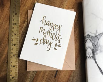 HAPPY MOTHER'S DAY card (gold foil) 4 pack
