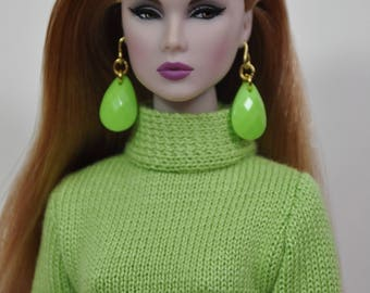 """Fashion Royalty FR2 Handmade outfit Nu Face Barbie doll 12"""" knitting dress Integrity Toys Poppy Parker Victoire Roux Color Infusion clothes"""