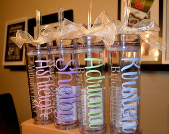 Wedding Tumbler, tumbler, bridesmaid, bridesmaid gift, personalized tumbler, personalized gift, bachelorette