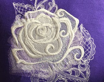 Ghost Rose (cotton pillow)