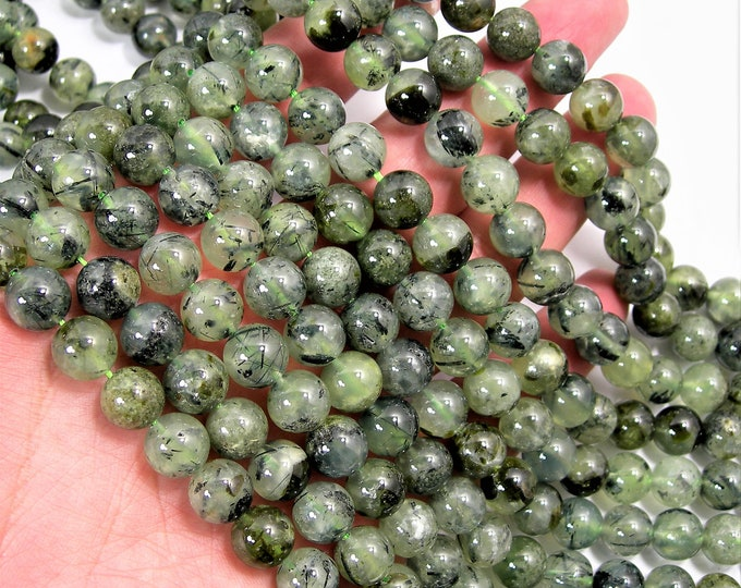 Prehnite - 10mm round - 1 full strand - 40 beads -  prehnite gemstone bead - RFG1579