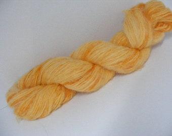 DESTASH SALE... Was 8.50... Now 6.00... Golden Orange Merino Wool Mohair Blend Yarn...50 grams...210yd