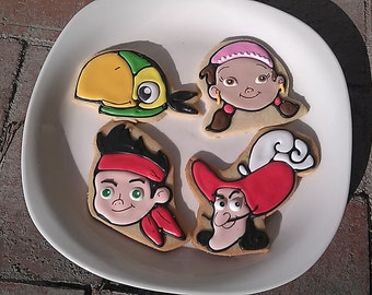 Jake the Pirate Themed Cookies