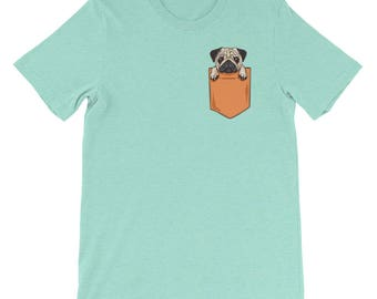 Pug lover pocket t-shirt funny gift